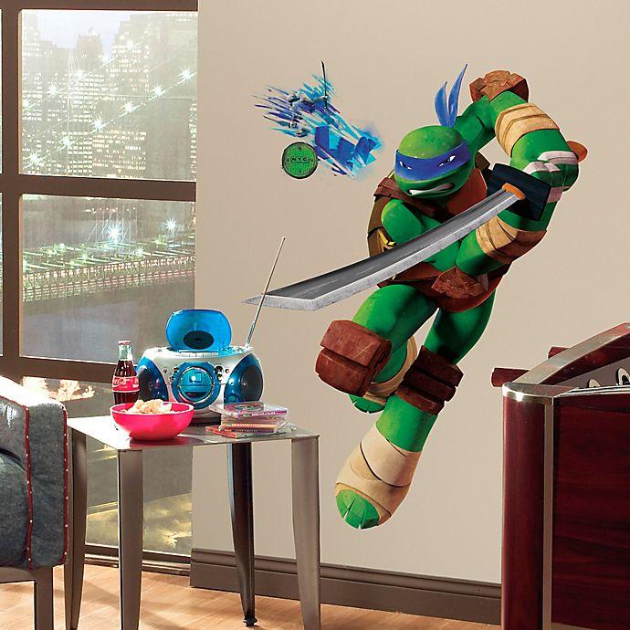 Alternate image 1 for Teenage Mutant Ninja Turtles Leo Giant Peel and Stick Wall Decals