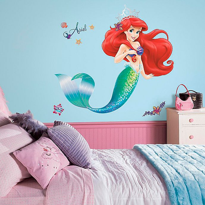 Alternate image 1 for Disney® The Little Mermaid Giant Peel and Stick Wall Decals