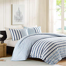 INK+IVY Sutton Duvet Cover Set in Blue
