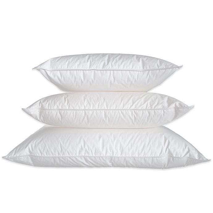 Ogallala Double Shell Firm Pillow In Pearl White Bed