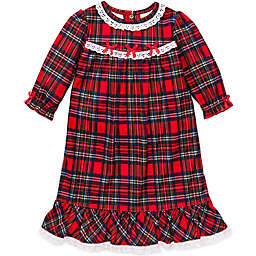 Little Me® Plaid Gown in Red