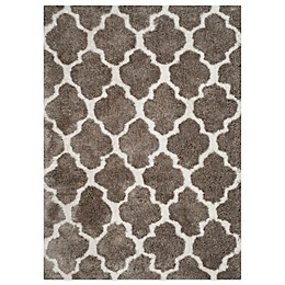 Safavieh Nantucket Collection Barcelona Shag Rugs in Silver/White
