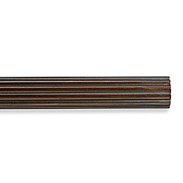 Cambria® Premier Wood Decorative Fluted Drapery Pole in Chocolate