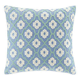Echo™  Kamala Square Throw Pillow in Blue/Ivory