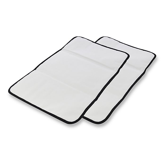 Alternate image 1 for Obersee Baby Changing Mat 2-Pack in Black