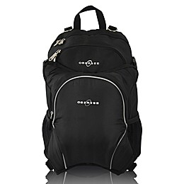 Obersee Rio Diaper Bag Backpack with Detachable Cooler in Black