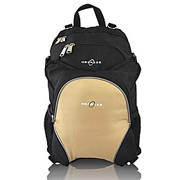 Obersee Rio Diaper Bag Backpack with Detachable Cooler in Black/Sand