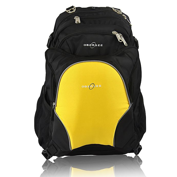 Alternate image 1 for Obersee Bern Diaper Bag Backpack with Detachable Cooler in Yellow