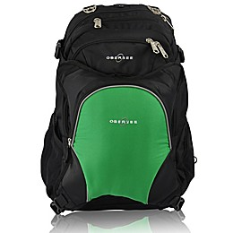 Obersee Bern Diaper Bag Backpack with Detachable Cooler in Green