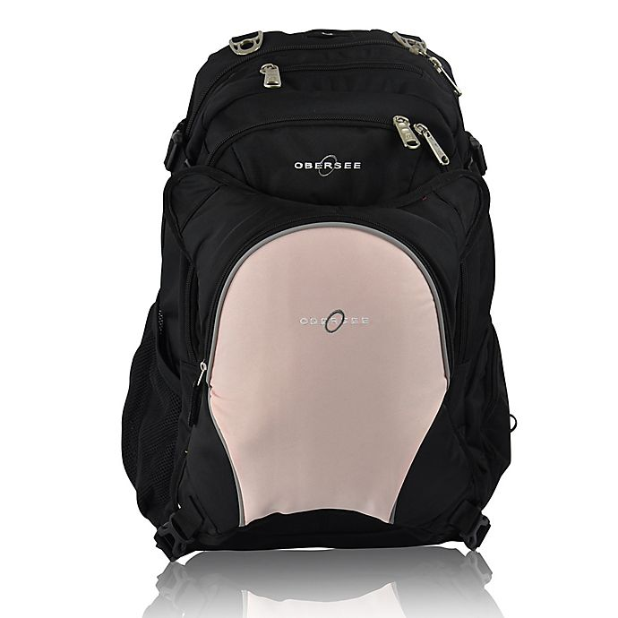Alternate image 1 for Obersee Bern Diaper Bag Backpack with Detachable Cooler in Bubble Gum