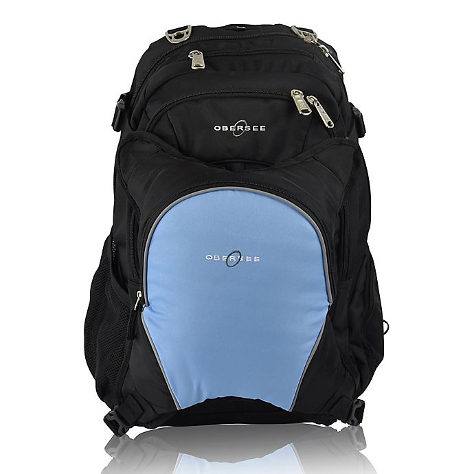 Alternate image 1 for Obersee Bern Diaper Bag Backpack with Detachable Cooler in Cloud