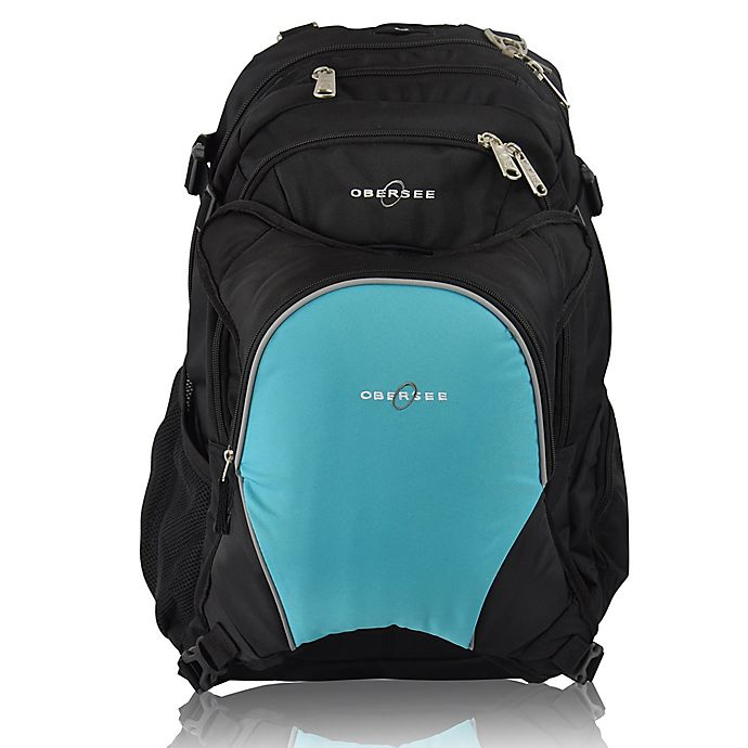 Alternate image 1 for Obersee Bern Diaper Bag Backpack with Detachable Cooler in Turquoise