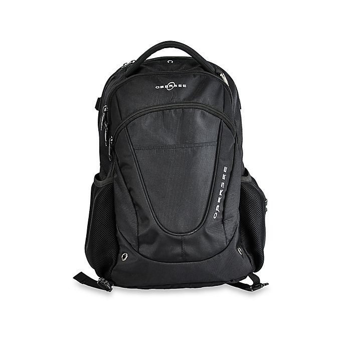 Alternate image 1 for Obersee Oslo Diaper Bag Backpack in Black