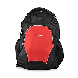 Obersee Oslo Diaper Bag Backpack with Detachable Cooler in Black/Red