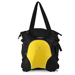 Obersee Innsbruck Diaper Bag Tote with Detachable Cooler in Black/Yellow