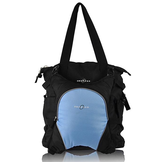 Alternate image 1 for Obersee Innsbruck Diaper Bag Tote with Detachable Cooler in Black/Cloud