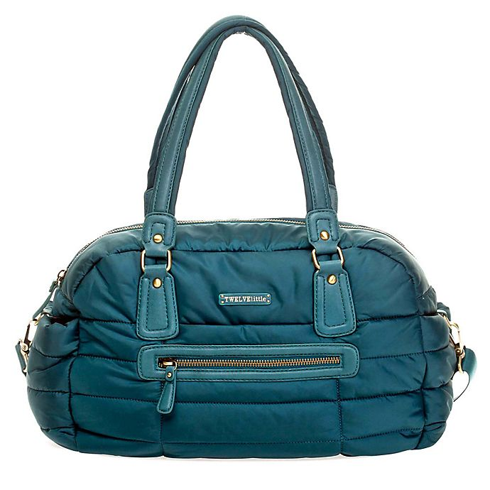 Alternate image 1 for TWELVElittle Companion Satchel Diaper Bag in Teal