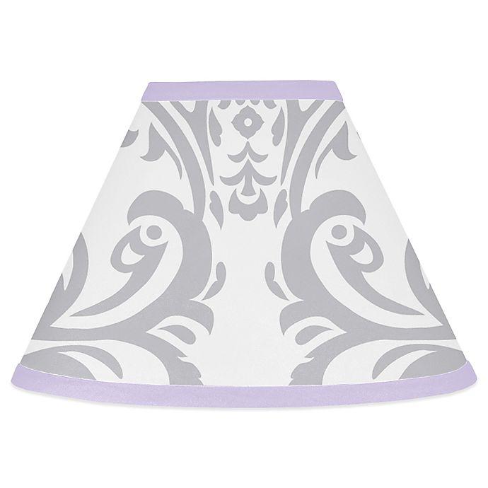 Alternate image 1 for Sweet Jojo Designs Elizabeth Lampshade in Lavender/Grey