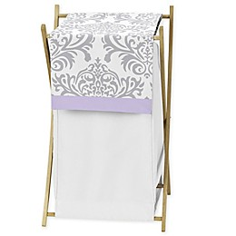 Sweet Jojo Designs Elizabeth Hamper in Lavender/Grey