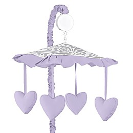 Sweet Jojo Designs Elizabeth Musical Mobile in Lavender/Grey