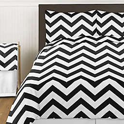 Sweet Jojo Designs Chevron Bedding Collection in Black and White