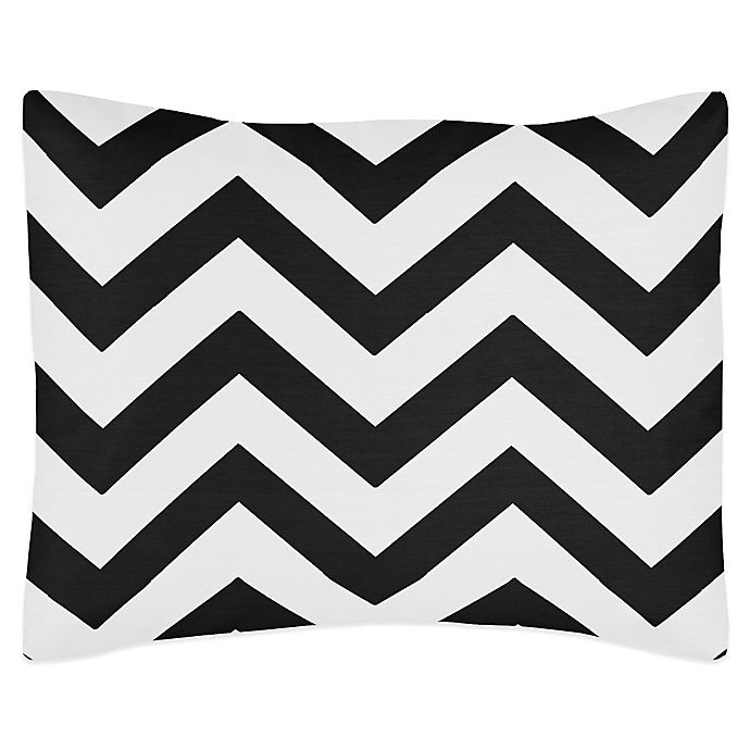 Sweet Jojo Designs Chevron Standard Pillow Sham In Black And White Buybuy Baby
