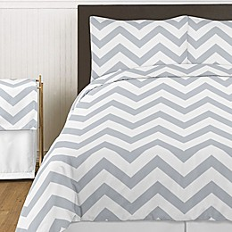 Sweet Jojo Designs Chevron Bedding Collection in Grey and White