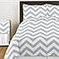 Part of the Sweet Jojo Designs Chevron Bedding Collection in Grey and White