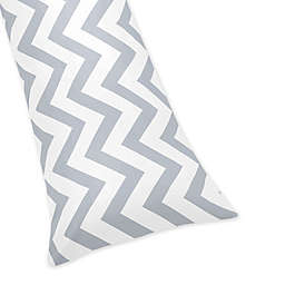 Sweet Jojo Designs Chevron Body Pillowcase in Grey and White