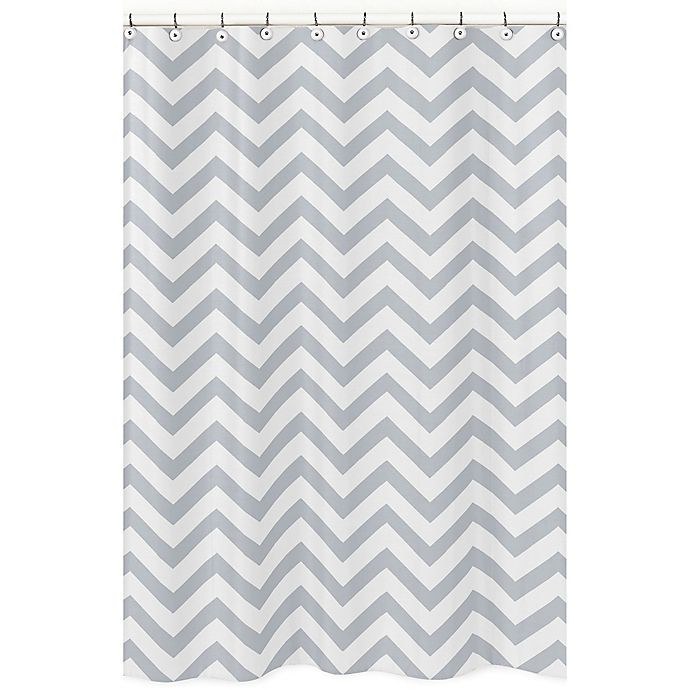 Sweet Jojo Designs Chevron Shower Curtain In Grey White View A Larger Version Of This Product Image