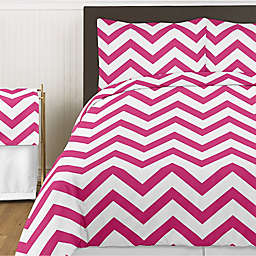 Sweet Jojo Designs Chevron Bedding Collection in Pink and White