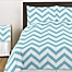 Part of the Sweet Jojo Designs Chevron Bedding Collectionin Turquoise and White