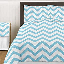 Sweet Jojo Designs Chevron Bedding Collectionin Turquoise and White