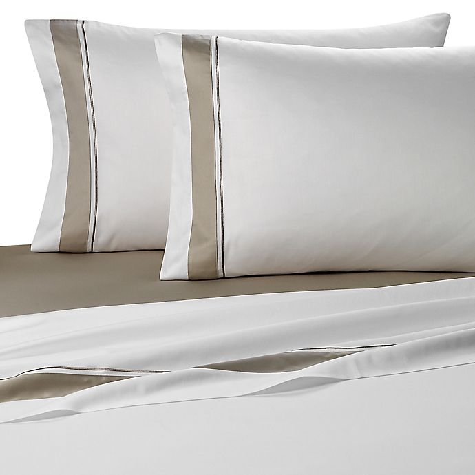 Alternate image 1 for Frette At Home Arno Standard Pillowcases in White (Set of 4)