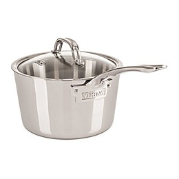 Viking® Contemporary Stainless Steel Covered Saucepans