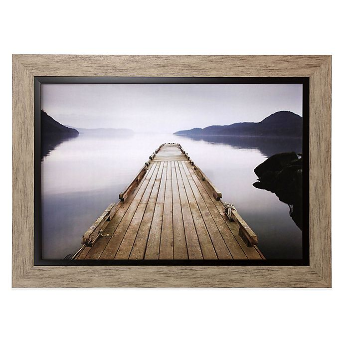 Wood Pier Framed Wall Art Bed Bath Beyond