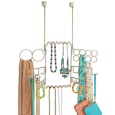InterDesign® Classico Over-the-Door Jewelry Organizer in Satin Nickel