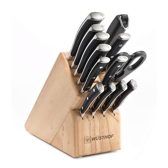 Alternate image 1 for Wusthof® Classic Ikon 14-Piece Wood Knife Block Set