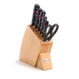 Wusthof® Gourmet 7-Piece Mobile Hardwood Knife Block Set