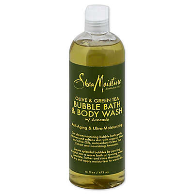 SheaMoisture® 16 fl. oz. Bubble Bath and Body Wash in Olive/Green Tea