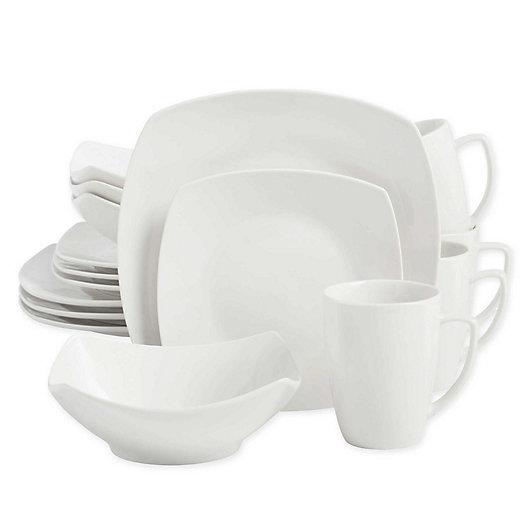 Alternate image 1 for SALT™ Soft Square 16-Piece Dinnerware Set in White