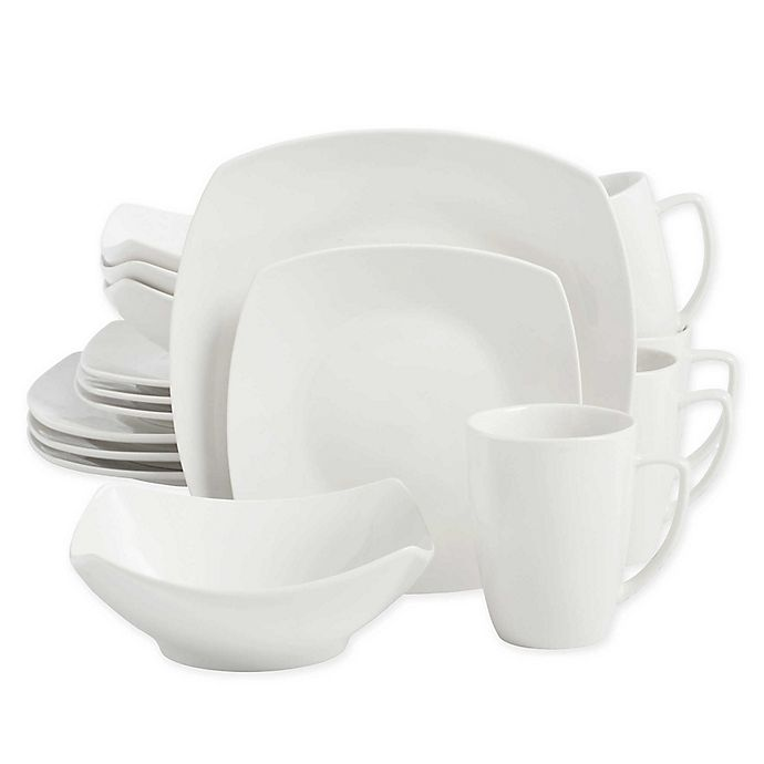Alternate image 1 for SALT™ Soft Square 16-Piece Dinnerware Set in White