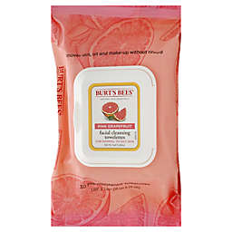 Burt's Bees® 30-Count Facial Cleansing Towelettes in Pink Grapefruit