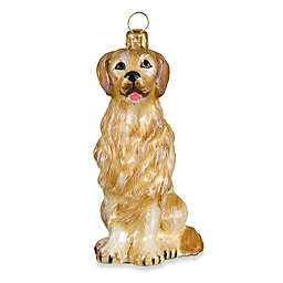 Joy to the World Collectibles Pet Set Golden Retriever Christmas Ornament