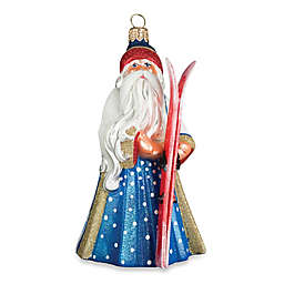 Glitterazzi Joy to the World Collectibles Alpine Santa Christmas Ornament