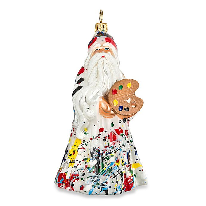 Alternate image 1 for Glitterazzi Joy to the World Collectibles Artisan Santa Christmas Ornament