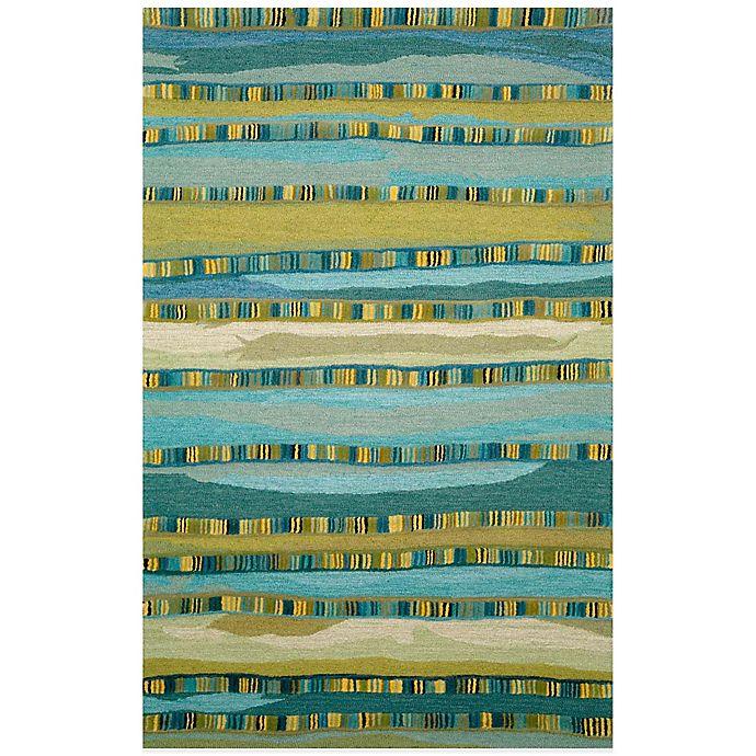 Alternate image 1 for Trans-Ocean Seville Mosaic Stripe 8-Foot x 10-Foot Rug in Blue