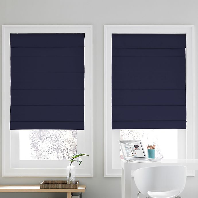 Alternate image 1 for Real Simple® Cordless Roman Cellular 64-Inch x 72-Inch  Shade in Navy