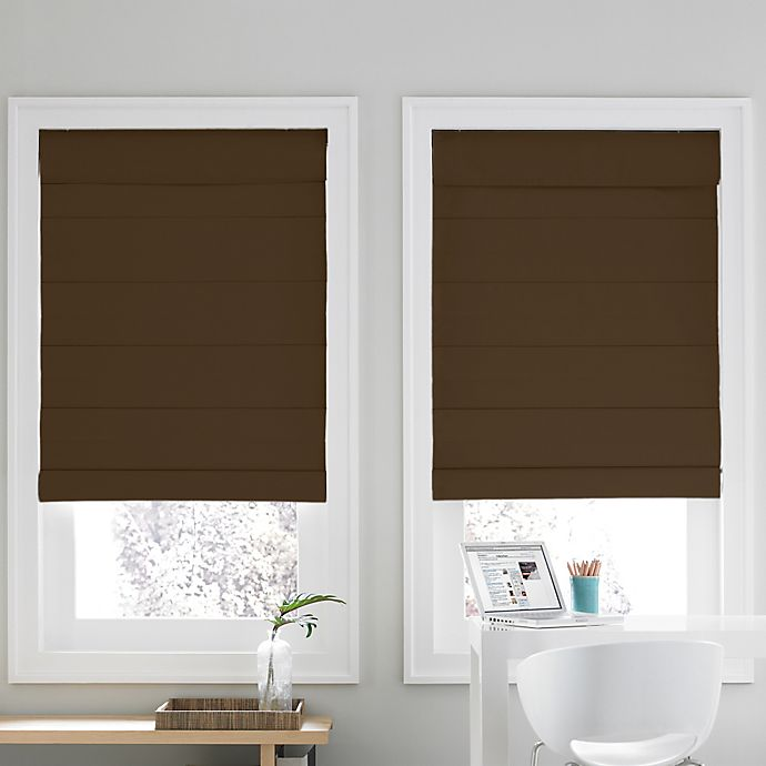 Alternate image 1 for Real Simple® Cordless Roman Cellular 68-Inch x 72-Inch  Shade in Chocolate