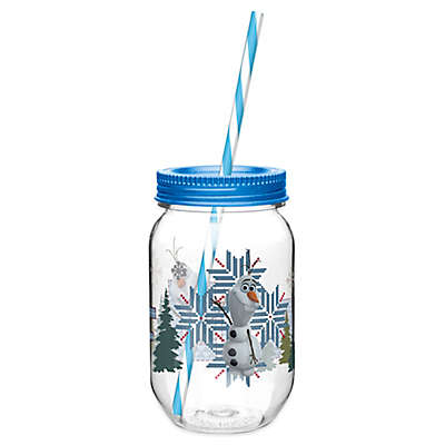 Zak! Designs® Disney® Frozen Olaf 19-Ounce Tritan Canning Jar Tumbler with Straw